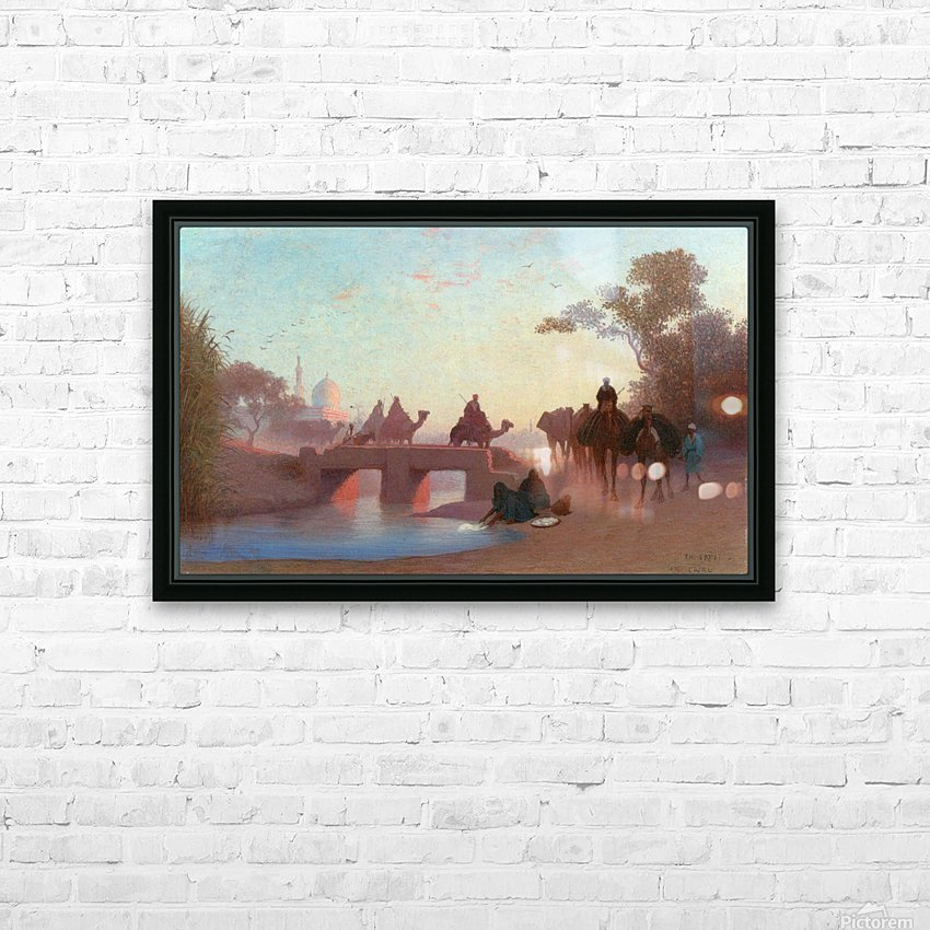Environs du Caire HD Sublimation Metal print with Decorating Float Frame (BOX)