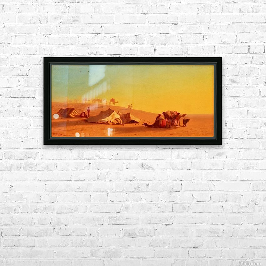 A halt in the desert HD Sublimation Metal print with Decorating Float Frame (BOX)