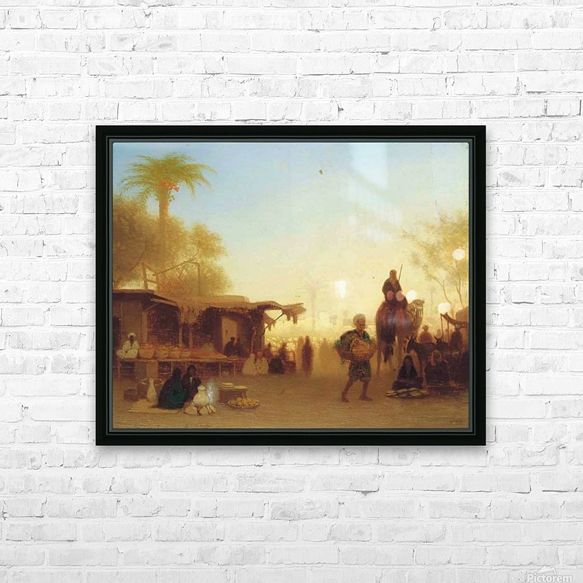 A Cairo bazaar at dusk HD Sublimation Metal print with Decorating Float Frame (BOX)