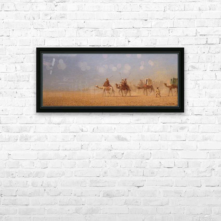 Caravanes traversant le desert HD Sublimation Metal print with Decorating Float Frame (BOX)