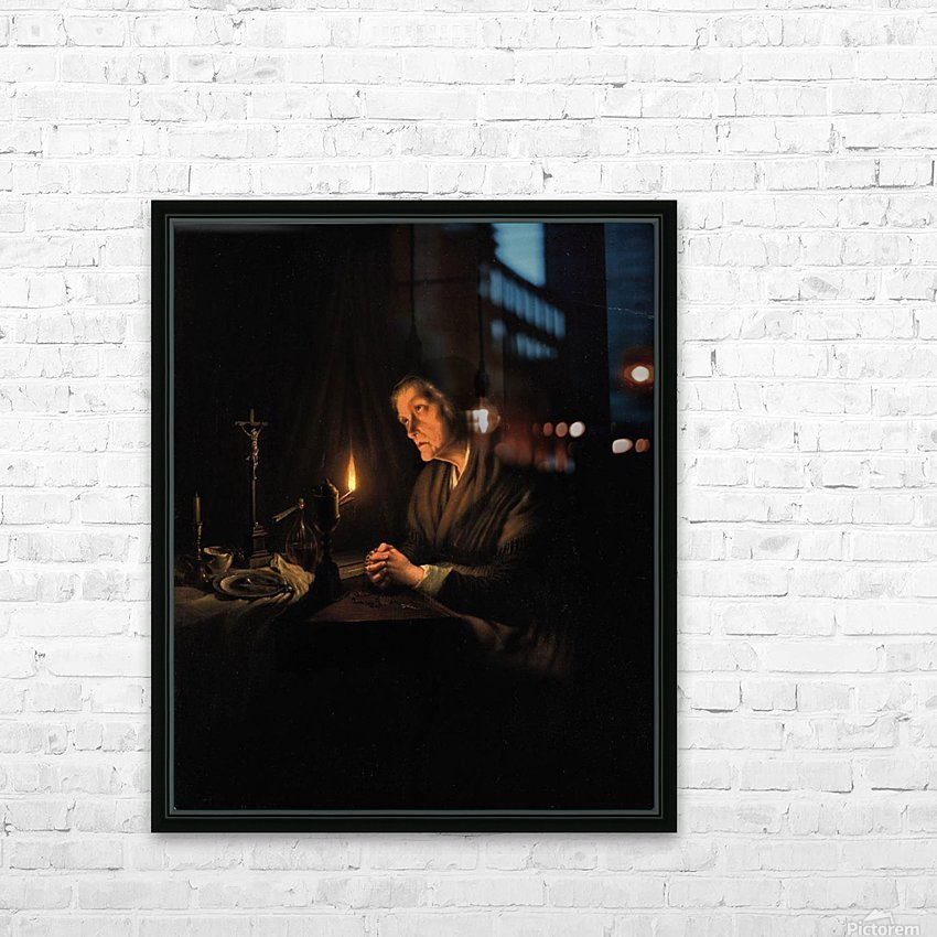 The evening prayer HD Sublimation Metal print with Decorating Float Frame (BOX)