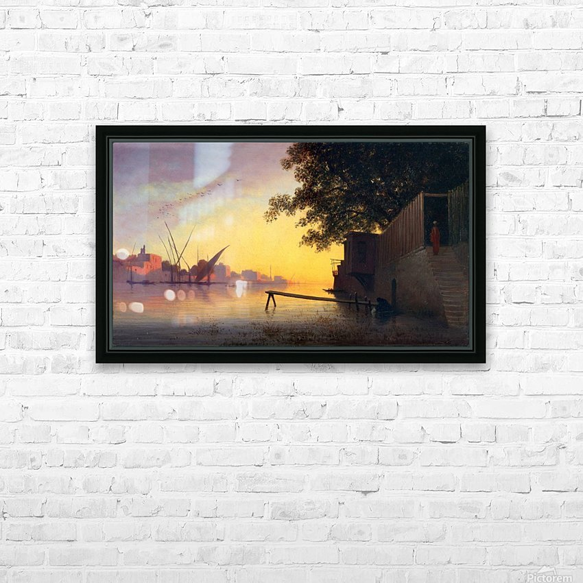 Evening on the Nile HD Sublimation Metal print with Decorating Float Frame (BOX)