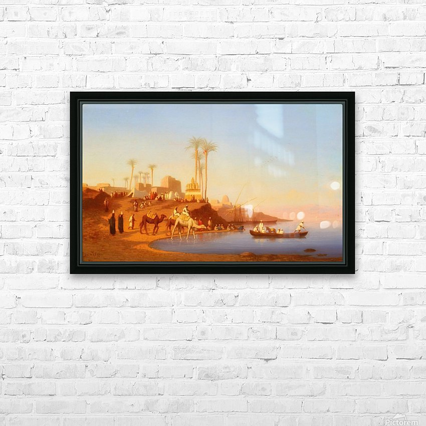 Arab encampment outside city HD Sublimation Metal print with Decorating Float Frame (BOX)