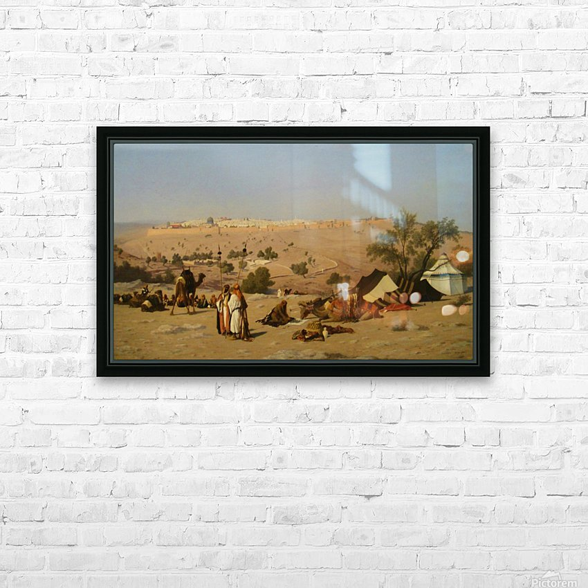 Jerusalem from the Environs HD Sublimation Metal print with Decorating Float Frame (BOX)