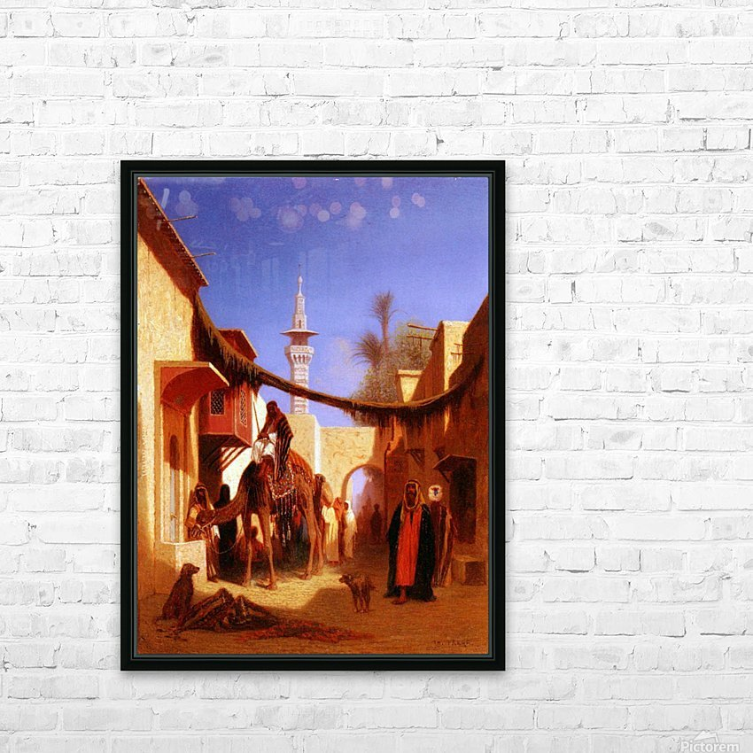 Street in Cairo HD Sublimation Metal print with Decorating Float Frame (BOX)