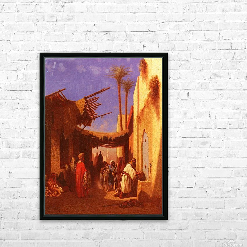 Street in Damascus HD Sublimation Metal print with Decorating Float Frame (BOX)