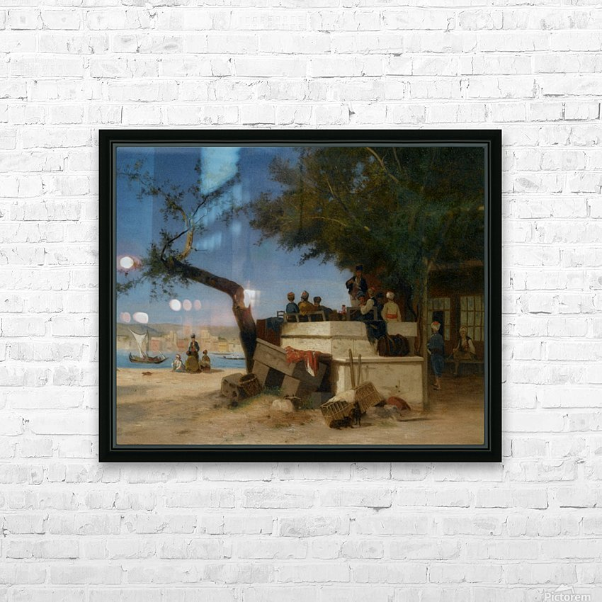An Eastern Cafe HD Sublimation Metal print with Decorating Float Frame (BOX)