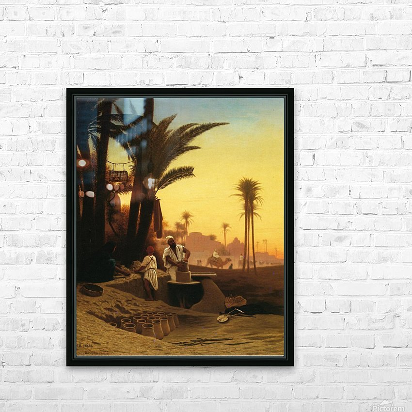 The Egyptian potter HD Sublimation Metal print with Decorating Float Frame (BOX)