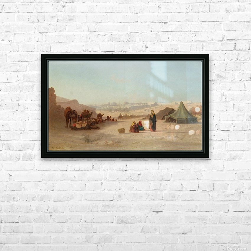 View of Jerusalem from the North, facing Damascus Gate HD Sublimation Metal print with Decorating Float Frame (BOX)