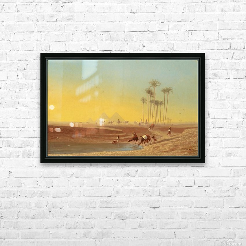 Oasis pres des pyramides HD Sublimation Metal print with Decorating Float Frame (BOX)