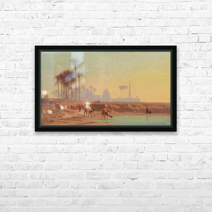 Caravan to the oasis HD Sublimation Metal print with Decorating Float Frame (BOX)