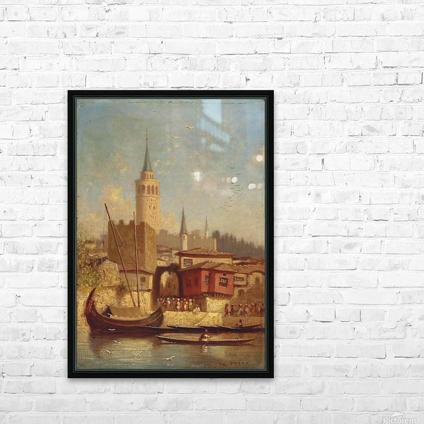 The Galata Tower, Constantinople HD Sublimation Metal print with Decorating Float Frame (BOX)