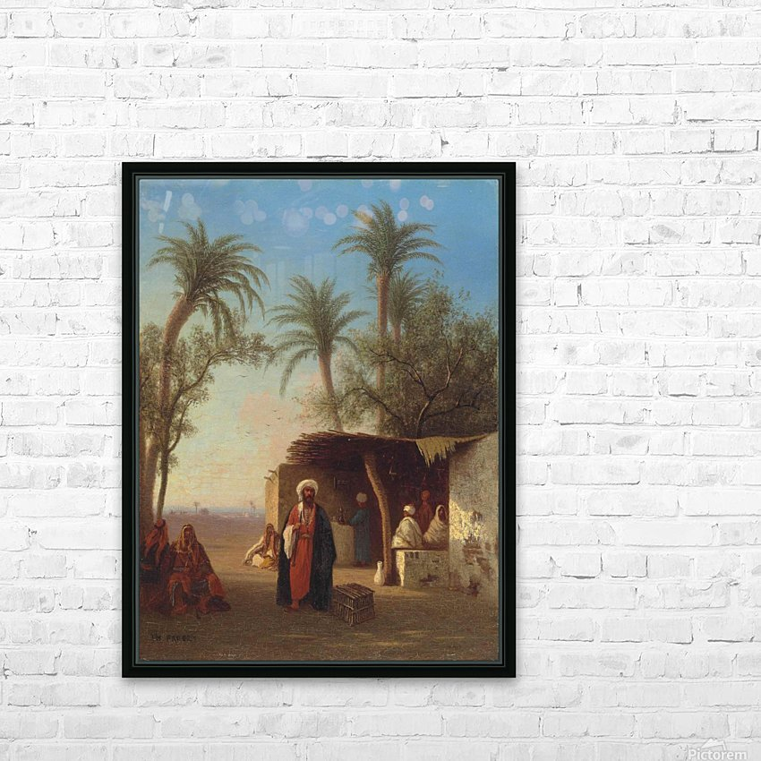 Arab encampment in an oasis nearby HD Sublimation Metal print with Decorating Float Frame (BOX)