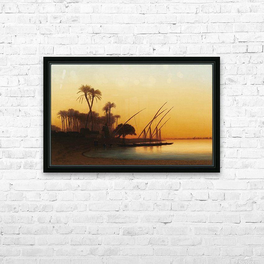 Sunset on the Nile HD Sublimation Metal print with Decorating Float Frame (BOX)