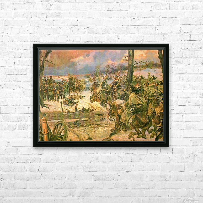 A battle scene HD Sublimation Metal print with Decorating Float Frame (BOX)