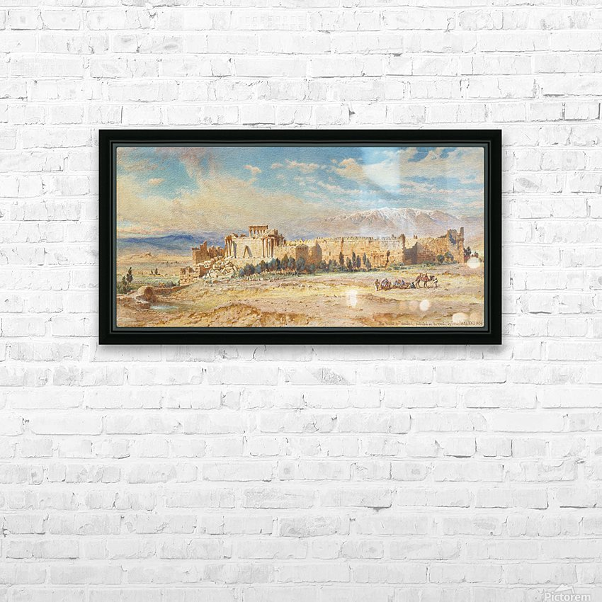 Ruines de Baalbeck HD Sublimation Metal print with Decorating Float Frame (BOX)
