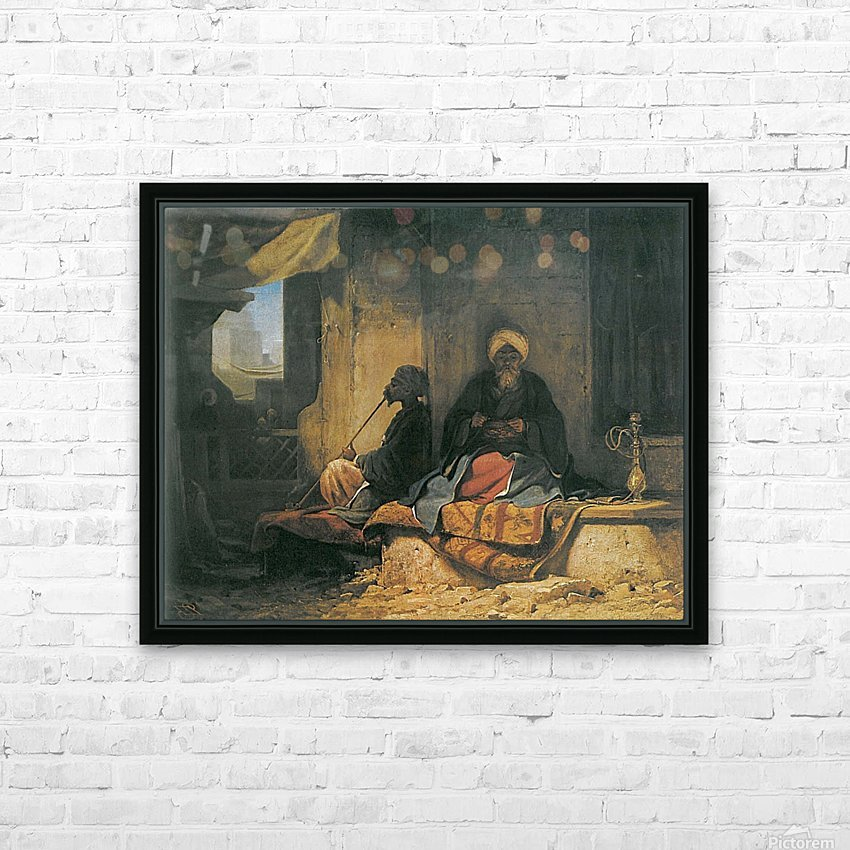 Two Turkish men in a cofee house HD Sublimation Metal print with Decorating Float Frame (BOX)