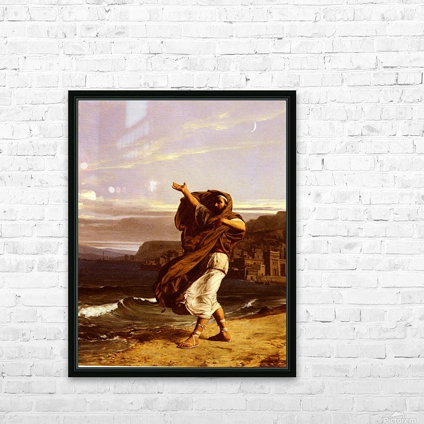 A young man in the wind HD Sublimation Metal print with Decorating Float Frame (BOX)