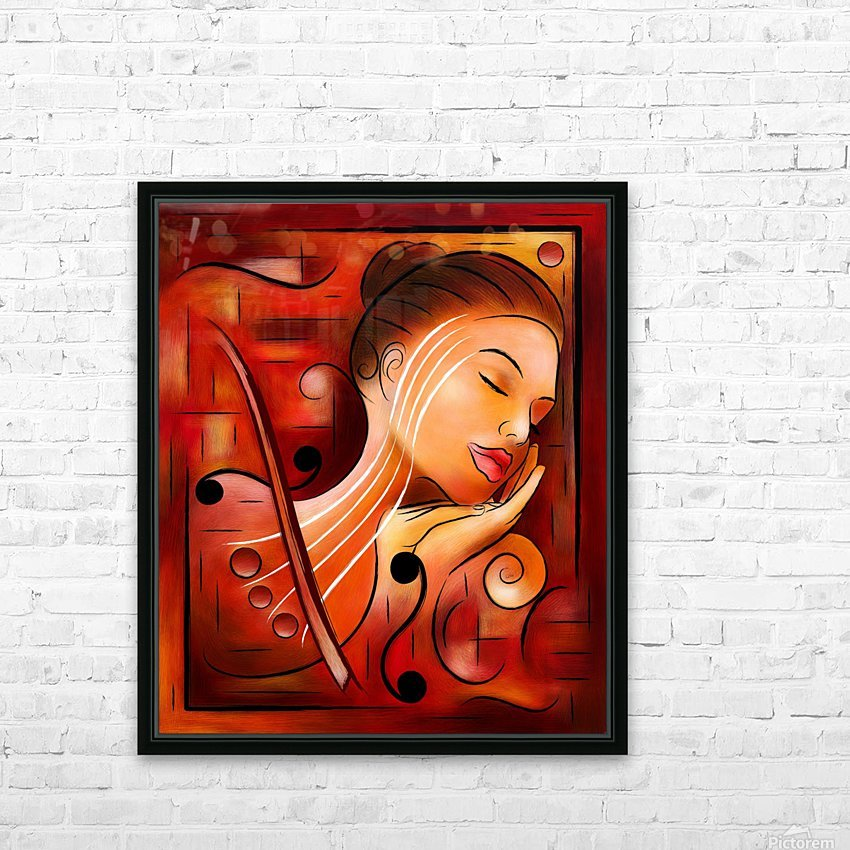 Casselopia - Violin dream HD Sublimation Metal print with Decorating Float Frame (BOX)