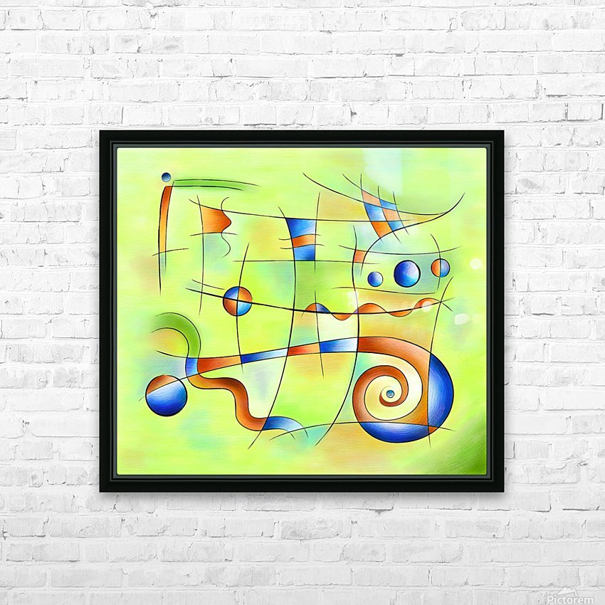Frenesia - mad world HD Sublimation Metal print with Decorating Float Frame (BOX)