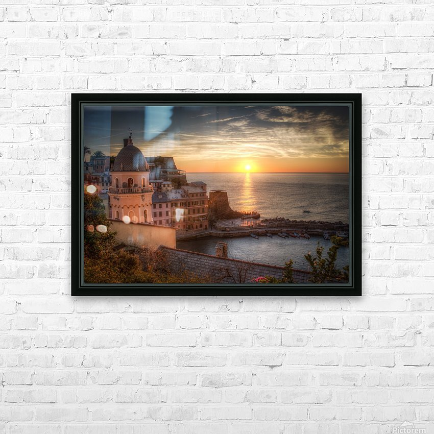 Sunset HD Sublimation Metal print with Decorating Float Frame (BOX)