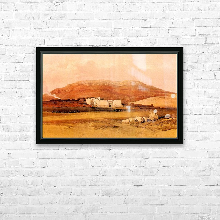 Medinet Abu 1838 HD Sublimation Metal print with Decorating Float Frame (BOX)