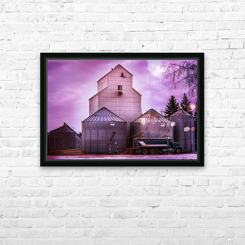 The Magenta Silos HD Sublimation Metal print with Decorating Float Frame (BOX)