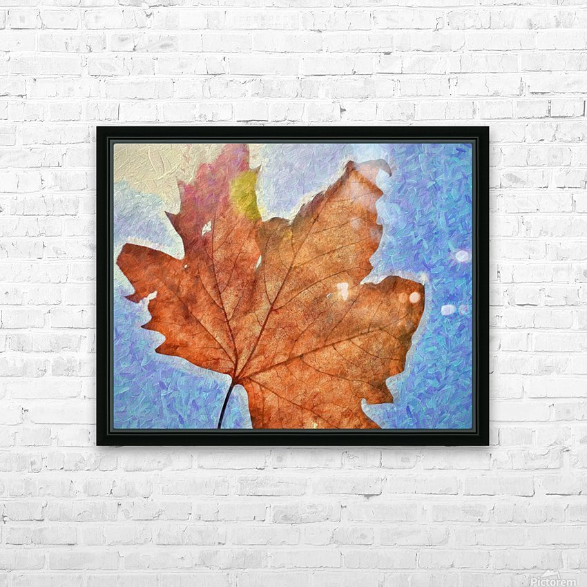 Autumn Leaves Macro 3 Abstract 3 HD Sublimation Metal print with Decorating Float Frame (BOX)