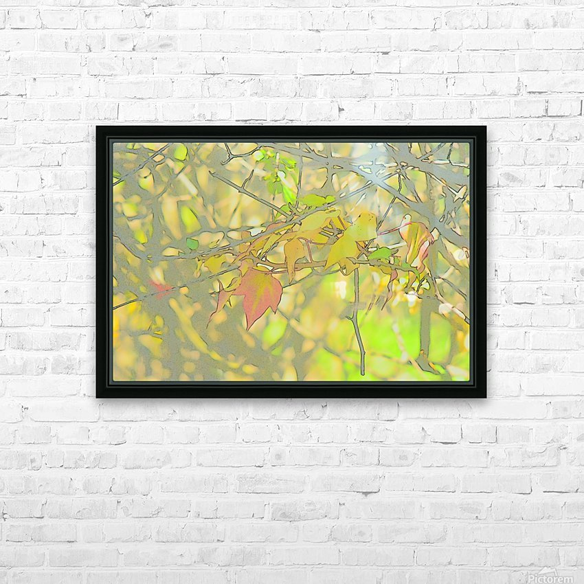 Leaves Macro 5 Abstract 1 HD Sublimation Metal print with Decorating Float Frame (BOX)