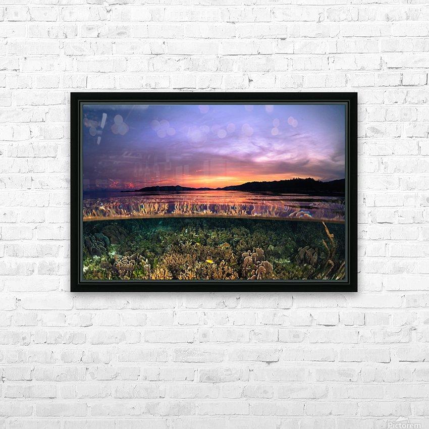 Raja Ampat sunrise HD Sublimation Metal print with Decorating Float Frame (BOX)