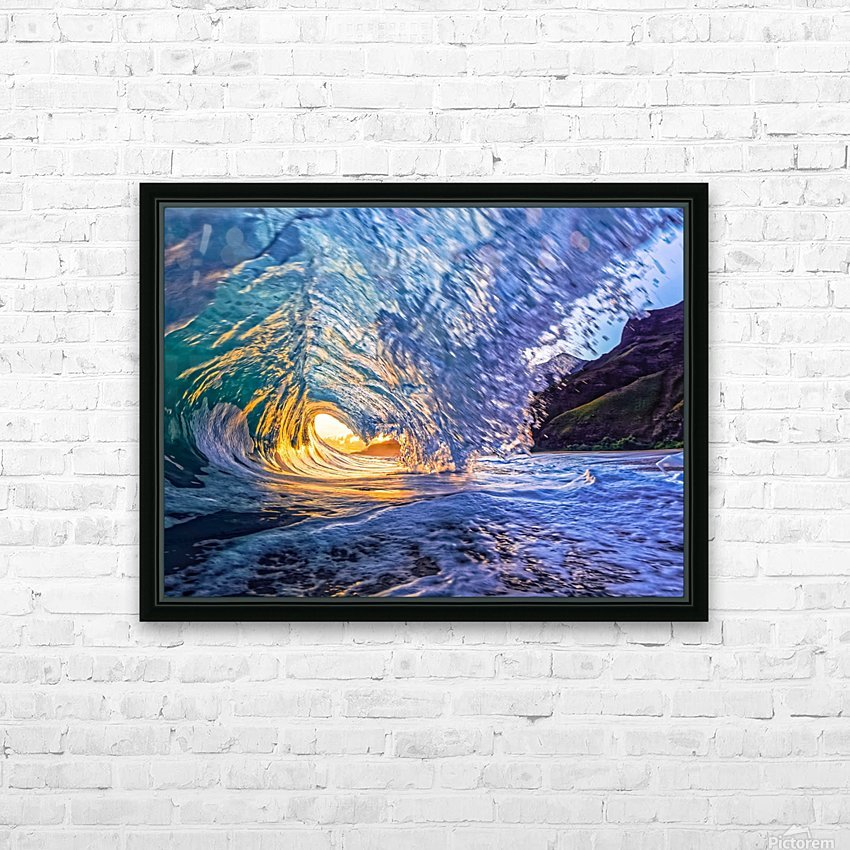 Kauai sunrise HD Sublimation Metal print with Decorating Float Frame (BOX)