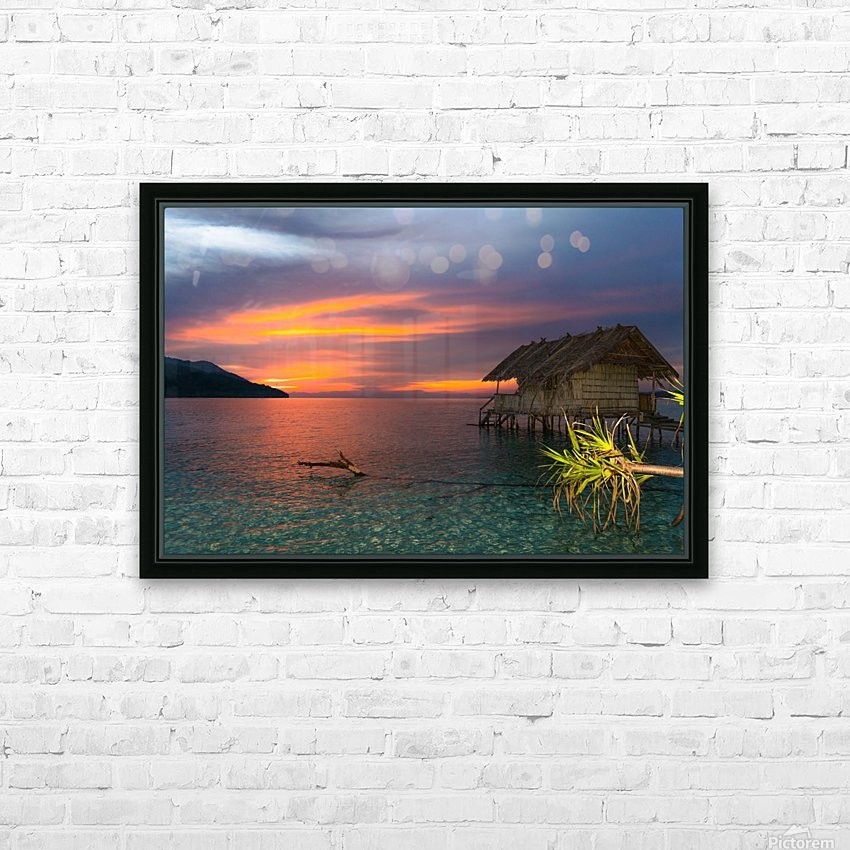 Simple life HD Sublimation Metal print with Decorating Float Frame (BOX)