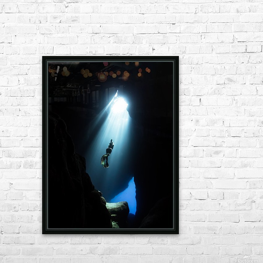 dark cave ver HD Sublimation Metal print with Decorating Float Frame (BOX)