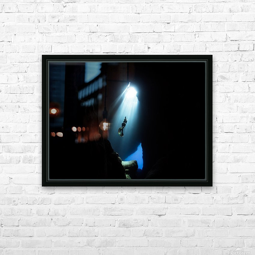 Dark cave HD Sublimation Metal print with Decorating Float Frame (BOX)