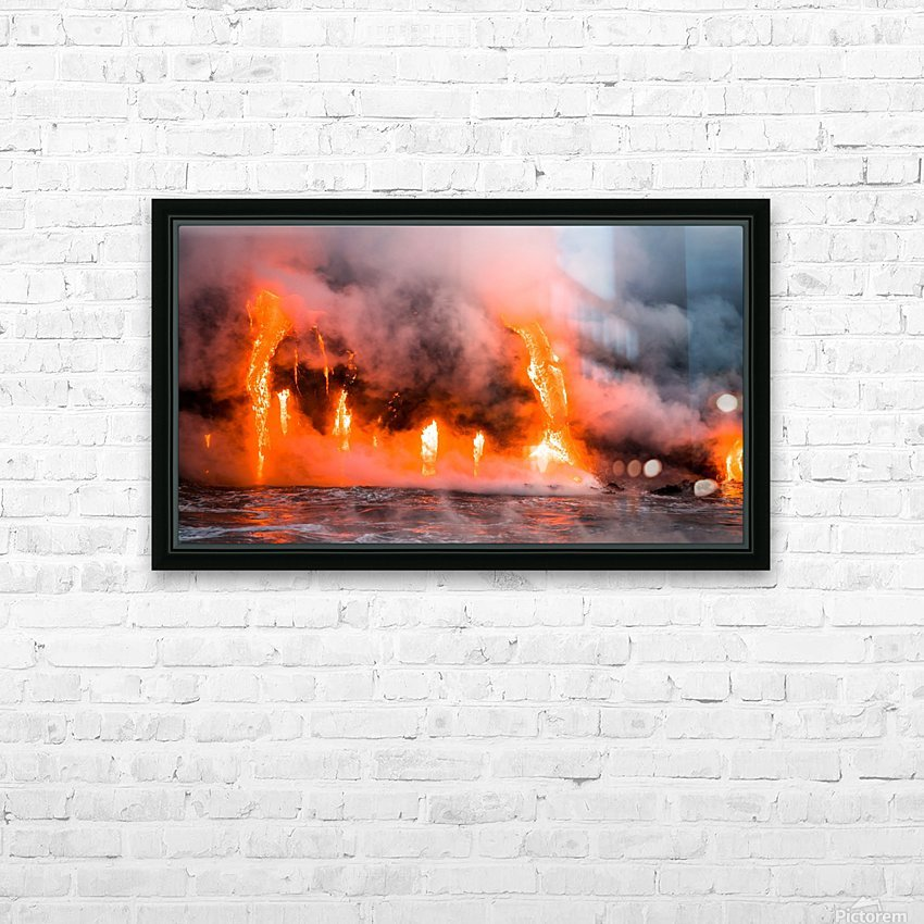 Hawaii Lava  HD Sublimation Metal print with Decorating Float Frame (BOX)