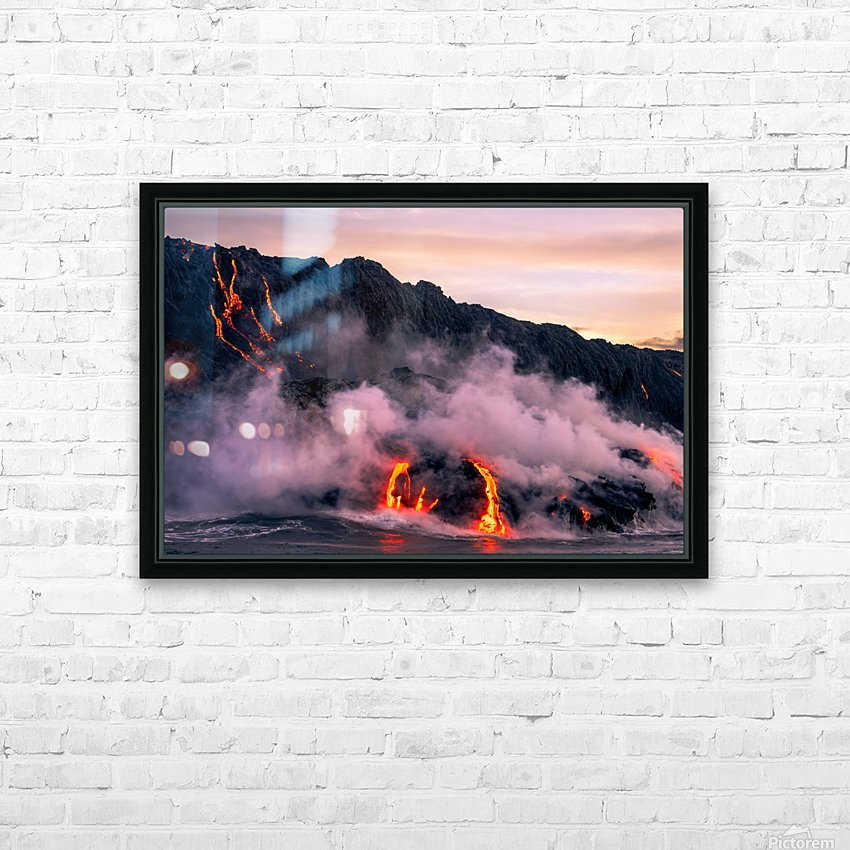 Sunrise at the lava flow HD Sublimation Metal print with Decorating Float Frame (BOX)