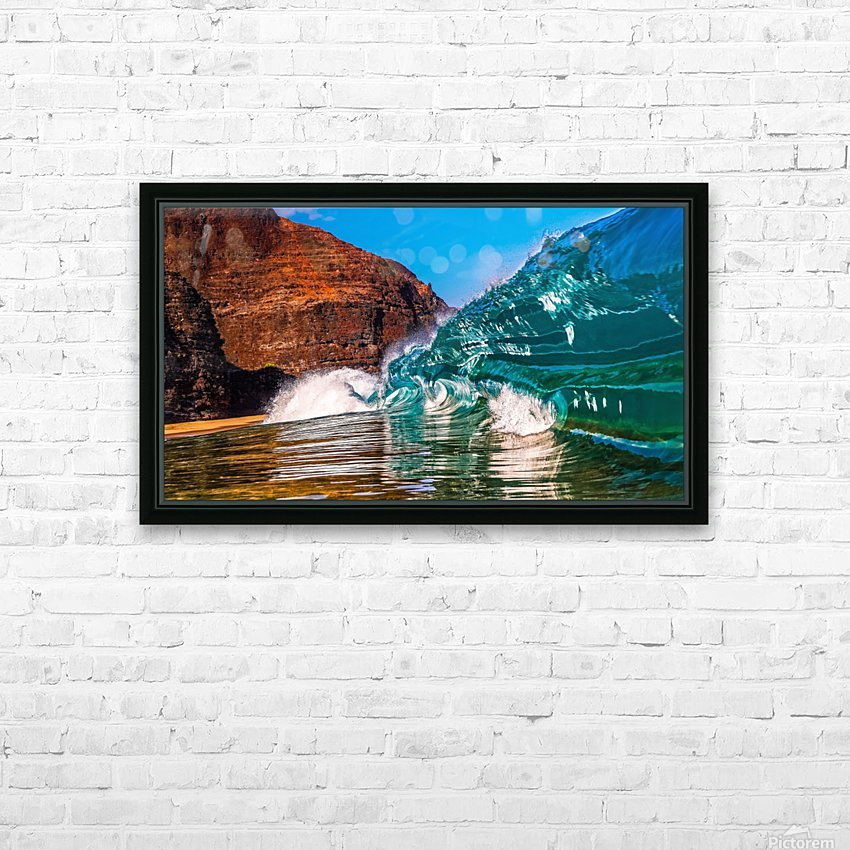 Glass wave HD Sublimation Metal print with Decorating Float Frame (BOX)