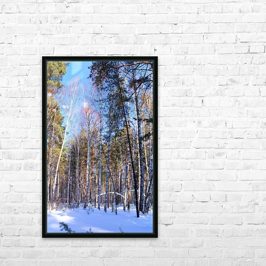 Winter. Forest. Shadow HD Sublimation Metal print with Decorating Float Frame (BOX)