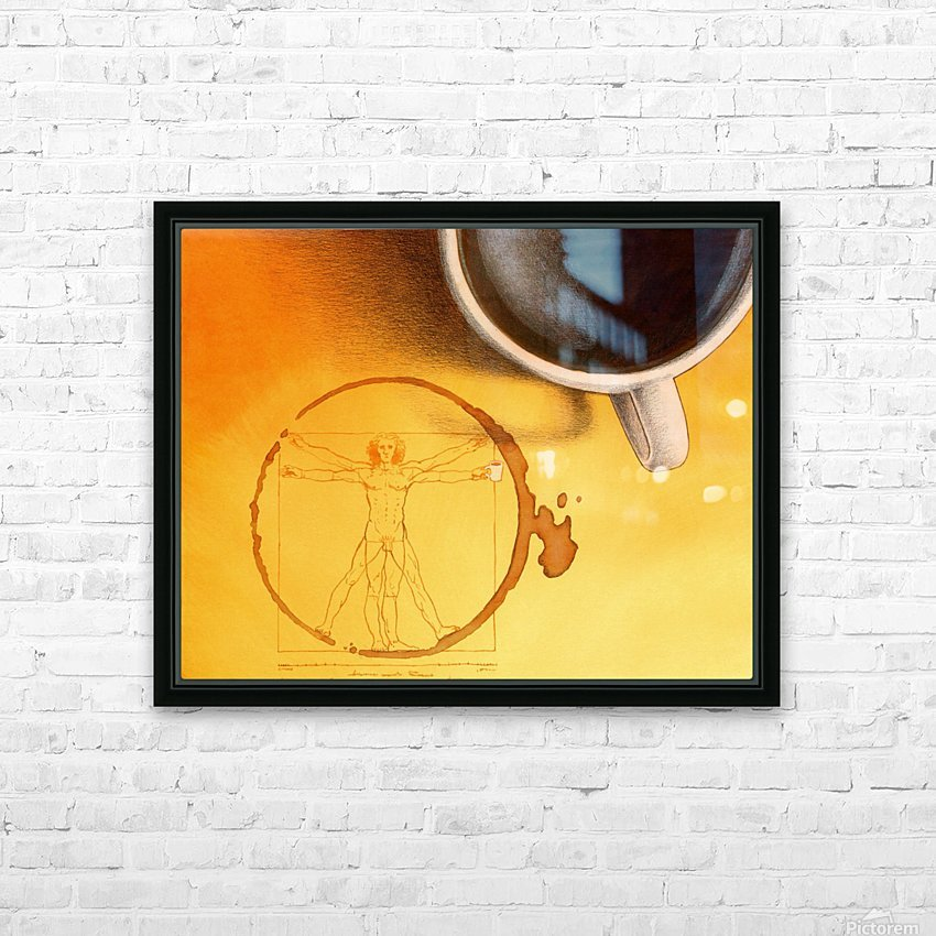 coffee man HD Sublimation Metal print with Decorating Float Frame (BOX)
