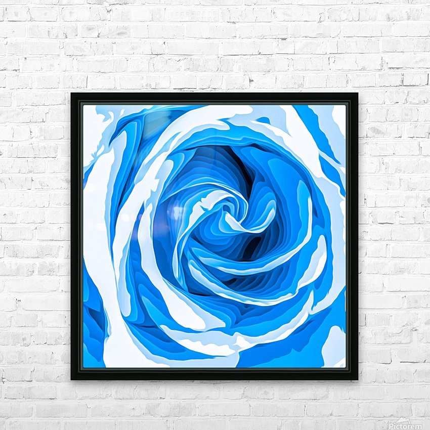 closeup blue rose texture abstract background HD Sublimation Metal print with Decorating Float Frame (BOX)