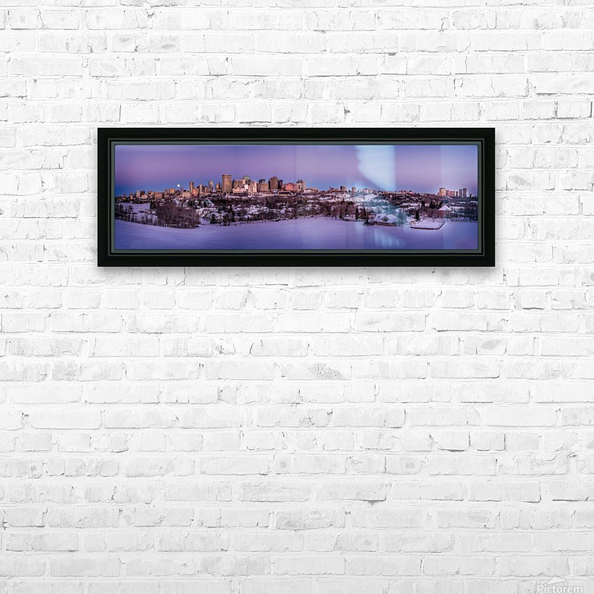 Panoramic City Landscape HD Sublimation Metal print with Decorating Float Frame (BOX)