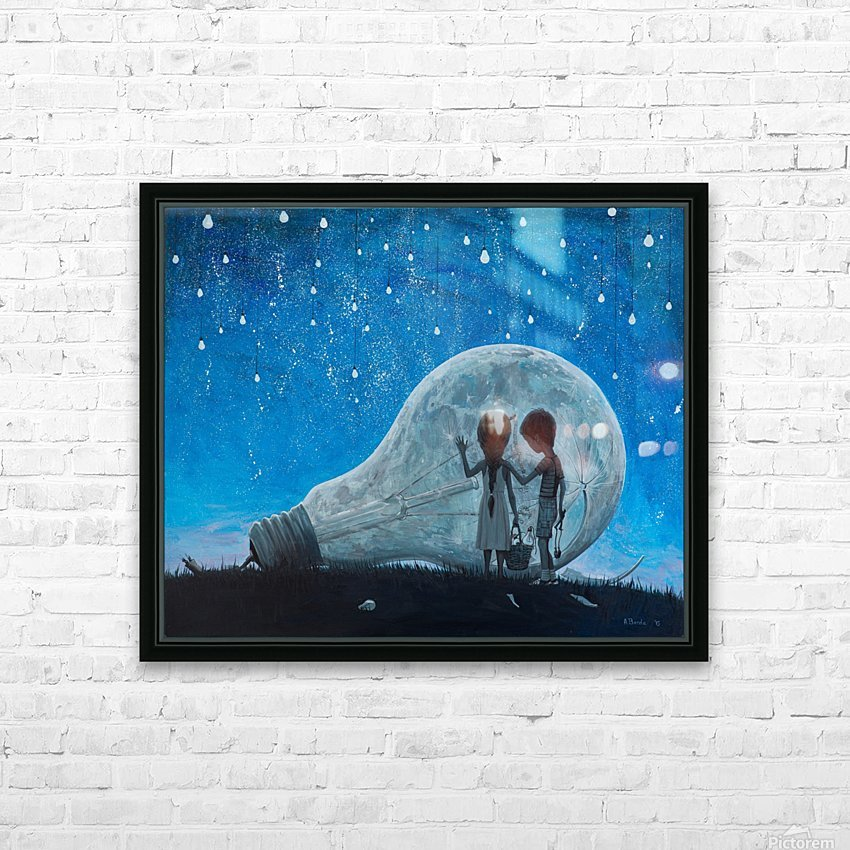 The Night We Broke The Moon HD Sublimation Metal print with Decorating Float Frame (BOX)