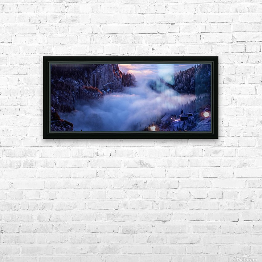 Alone Against all Darkness II HD Sublimation Metal print with Decorating Float Frame (BOX)