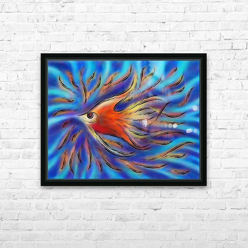 Poloniussa - red angelfish HD Sublimation Metal print with Decorating Float Frame (BOX)
