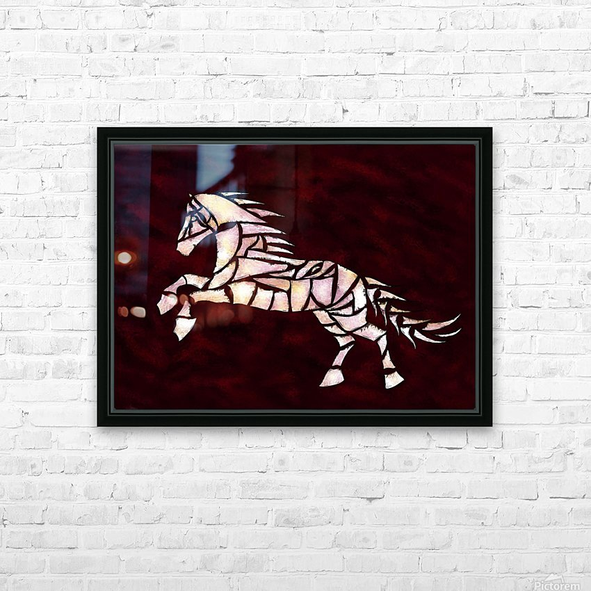 Cavallerone - white horse HD Sublimation Metal print with Decorating Float Frame (BOX)