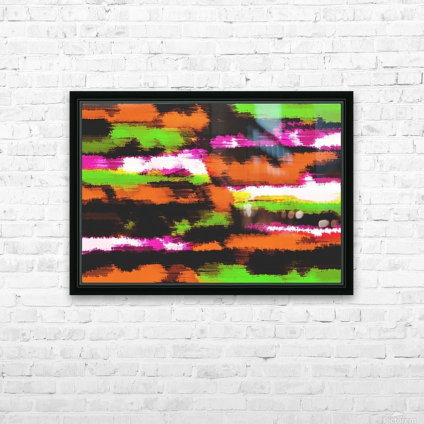 orange black pink green grunge painting texture abstract background HD Sublimation Metal print with Decorating Float Frame (BOX)