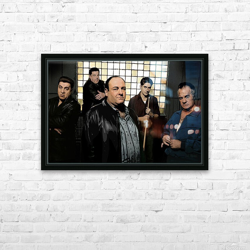 The Sopranos  HD Sublimation Metal print with Decorating Float Frame (BOX)