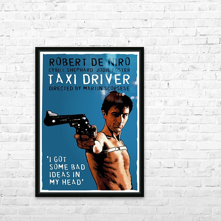 Taxi Driver HD Sublimation Metal print with Decorating Float Frame (BOX)
