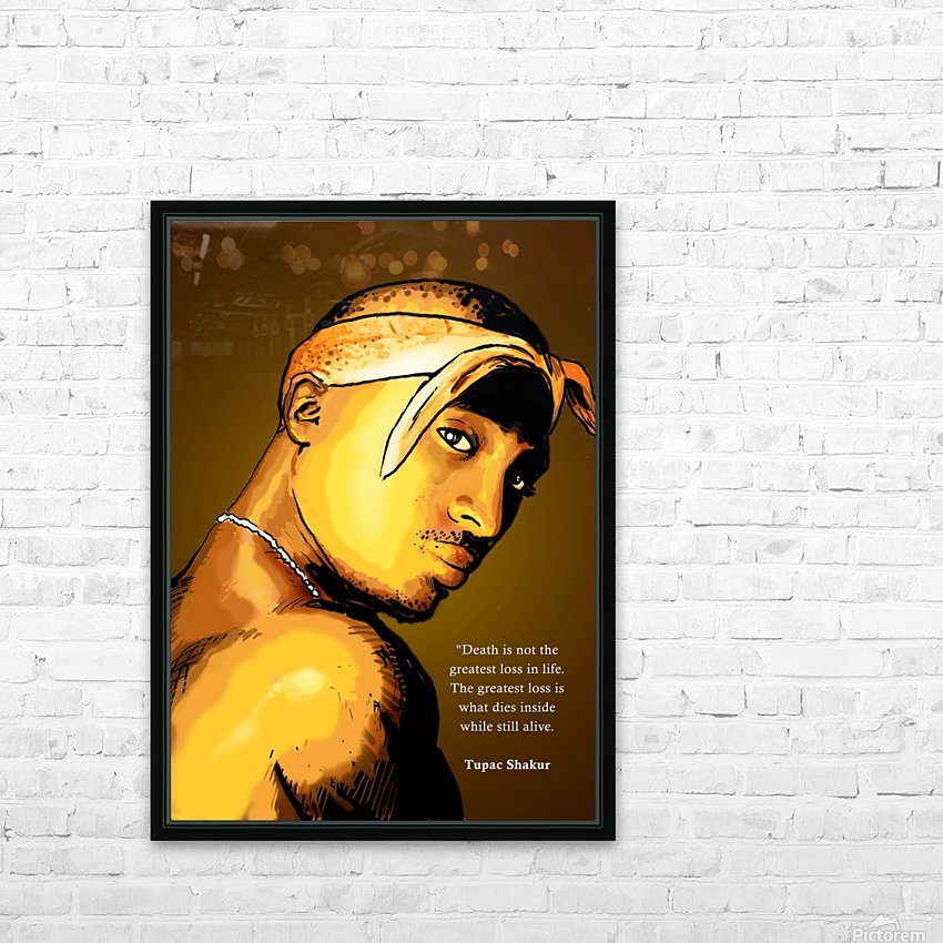 Tupac HD Sublimation Metal print with Decorating Float Frame (BOX)