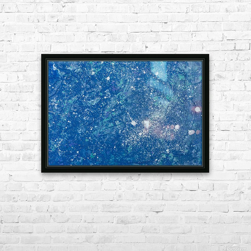 Space Race HD Sublimation Metal print with Decorating Float Frame (BOX)